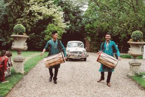English_Indian Fusion Wedding at Northbrook Park with Coral Flowers