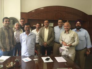 002 EEMA NEC 2014 With Hon Chief Minister Sh. Arvind Kejriwal Ji for Represnetion on Single Window Clreance